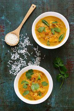 Curry de poisson à l'indienne Retour sur la cuisine indienne pour laquelle j'ai un grand grand penchant, comme vous savez, comme toute ma famille (sans parler de ma maman pour…