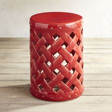 Get The Look Of Lattice With The Durability Of Hand Cast Earthenware In Our  Versatile Garden Stool. Brighten Up Your Outdoors With Extra Seating, ...