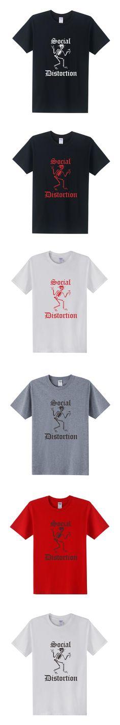Metal Rock SOCIAL DISTORTION T Shirts New Summer Men Short Sleeve O Neck Punk Band T-Shirt Men Tees Tops Plus Size XS-3XL OT-183