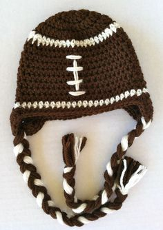 POPULAR Baby infant toddler boy football hat with braids. Great photo prop. $25.00, via Etsy.