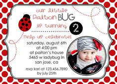 Printable ladybug invitation red ladybug birthday party printable ladybug invitation red ladybug birthday party invitations ladybug birthday invites ladybug photo invitations ladybug party 1299 filmwisefo Choice Image