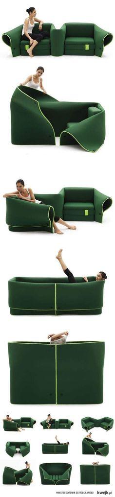 Muebles muy original transformable según el momento del día