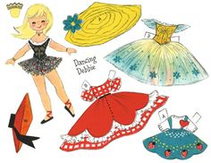 ✄ #Paper Dolls  Dancing Debby Clothes  3 of 5