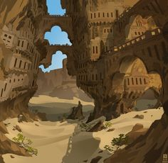 Desert ruin by Mr--Einikis.deviantart.com on @DeviantArt
