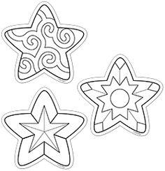 "Color-Me Stars 6"" Designer Cut-Outs"