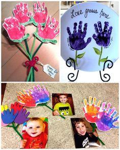Mother's Day Handprint Crafts & Gift Ideas for Kids to Make - Crafty Morning
