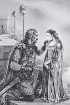 THE HOUND & SANSA By Arantza Sestayo/Penguin Random House. A Game of Thrones 20 years: ilustred edition. by Random House