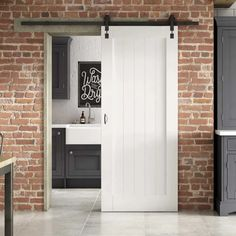 Curated by Jeld Wen Enhance your dining, study, kitchen or bedroom areas with this Solid MDF Panelled Internal Stable Door. Supplied pre-primed ready for a final top coat so you can add your own unique flair to mirror your personality. Indoor Sliding Doors, Internal Sliding Doors, Modern Sliding Doors, Sliding Glass Door, Kitchen Sliding Doors, Jeld Wen, Sliding Door Window Treatments, Door Kits, Country Style Homes