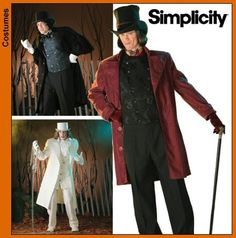 Diy Sewing Pattern-Simplicity 4083 Willy Wonka Costume-Victorian Men's Suit. $6.00, via Etsy.