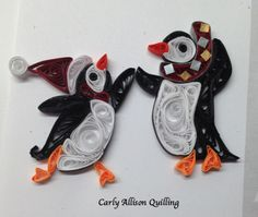 Quilled Penguins Carly Allison Quilling