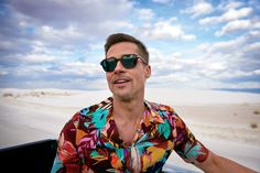 White Sands National Park   Shirt, $750, by Valentino / Sunglasses, $440, by Eyevan 7285 / Necklace by Miansai