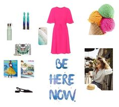 """""""Be here now"""" by malinandersson on Polyvore featuring Valentino, Tory Burch, Oscar de la Renta, Gray Malin, Summer, Pink, Chanel and valentino"""