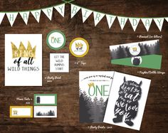 where the wild things are party printables por SpruceAndWillow