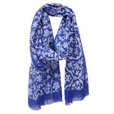Everything Is Vine Blue Scarf