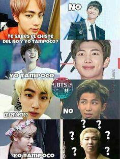 Jin siempre va tener chistes malos