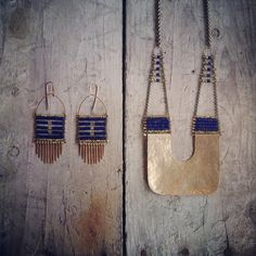 New #lapis pieces #demimondejewelry (at Demimonde Shop)