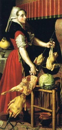 Attributed to Pieter Aertsen or to Pieter Pietersz. I (RKD, The Hague) A kitchen maid in an interior, Unsigned, dated 1569
