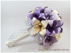 Buquê de lírios de Origami para noivas - Sakura Origami Ateliê