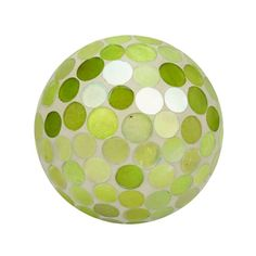 "Green Decorative Balls Silver Studded Decor 4"" Ball  Largemetal Decor Balls With Wood"