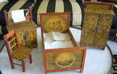 Adorable Set of German Doll Furniture- late 19th century.