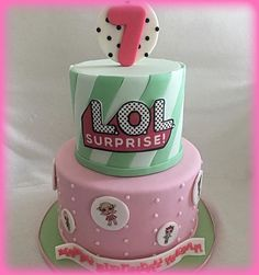 LOL Surprise Dolls 2-Tier Birthday Cake