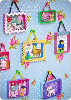 Frame mismatched toys with handmade art