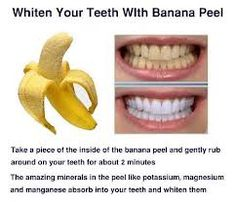 whiten teeth with banana peel