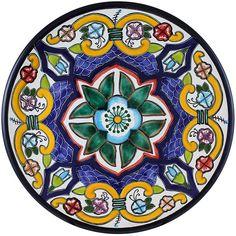 Tomas Huerta TalaveraPlate - Pattern 66 ♥️♣️♣️Talavera Mexican Pottery : More At FOSTERGINGER @ Pinterest ♣️