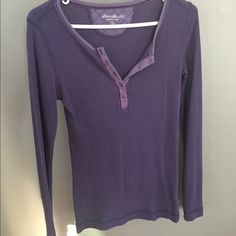 Purple waffle Henley New, soft, purple Henley, waffle fabric, Eddie Bauer Tops Tees - Long Sleeve