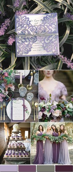 Romantic shades of lavender wedding colors with matching invites.#weddings#invitations#weddingcolors