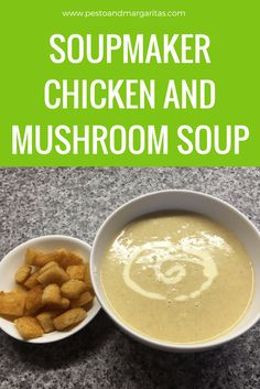 Soup maker soups are an easy way to get quick and tasty soups. This one combines chicken with mushroom and is a great way to use up leftovers from the Sunday lunch. Click to read the full recipe