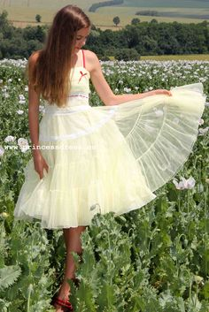 Yellow Tulle Dress. Frenchy Grease Inspired Dress Frenchy Grease, Miss Dress, Tulle Dress, Inspired, Yellow, Skirts, Inspiration, Dresses, Fashion