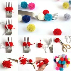 33 craft ideas, how to do tassels and pompom yourself .- 33 Bastelideen, wie man Quasten und Bommel selber machen kann DIY ideas make DIY IDeen bommel tassel instructions - Pom Pom Crafts, Yarn Crafts, Paper Crafts, Pom Pom Diy, Crochet Crafts, How To Make Tassels, How To Make A Pom Pom, Crafts For Teens, Crafts For Kids