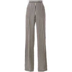 Etro Stripe Wide-Leg Trousers (1475 TND) ❤ liked on Polyvore featuring pants, trousers, bottoms, jeans, calças, etro, striped trousers, striped pants, stripe pants and wide leg trousers