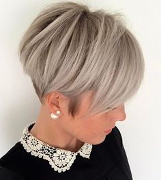 Ash Blonde Pixie with Nape Undercut #PixieHairstylesEdgy