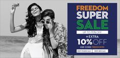 "Independence Day sale offer @ KOOVS Use ""FREEDOM10""."