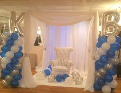 Baby and bridal showers on pinterest baby shower for Baby shower canopy decoration