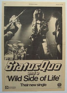 Quo Rick Parfitt, Greatest Rock Bands, Status Quo, Life S, All About Time, Movie Posters, Musica, Film Poster, Film Posters