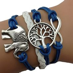 Find amazing Cute Handmade Charms Tree Elephant Knit Leather Rope Chain Bracelet Gift elephant gifts for your elephant lover. Cute Elephant, Elephant Gifts, Knit Bracelet, Beaded Bracelets, Charm Bracelets, Silver Bracelets, One Direction, Gypsy, Elephant Bracelet