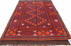 7X10 Sumac Afghan Kilim Rug Area Rug Carpet Kilim Rug Moroccan