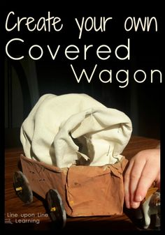 Super cute covered wagon craft for learning about the history of America!