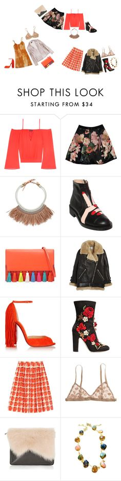 """""""The Right Side of Rock Bottom"""" by im-hopeless-but-hoping ❤ liked on Polyvore featuring Bebe, Ted Baker, Fiona Paxton, Minna Parikka, Rebecca Minkoff, Acne Studios, Christian Louboutin, Dolce&Gabbana, J.Crew and Madewell"""