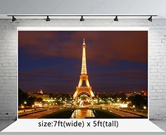 Night Lighting Paris Eiffel Tower Photography Backdrop no Crease Photo Background Eiffel Tower Photography, Background For Photography, Photography Backgrounds, Christmas Backdrops, Friday Night Lights, Paris Eiffel Tower, Paris Photos, Christmas Background, Photo Backgrounds