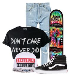 """Cali Skater"" by nina4ever14 ❤ liked on Polyvore featuring Boohoo and Vans"