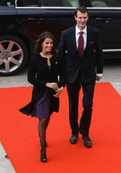 Prince Joachim and Princess Marie of Denmark 4/19/2014