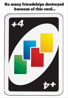 so many friendships destroyed because of this card...Mostly because they would change the color to the only color I did not have