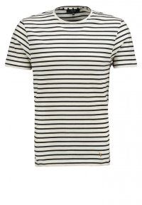 Villain - ANDRIAN - T-Shirt basic - black/cream