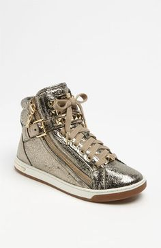 """Ha! I just think these are way cool! I can hear my sister saying, """"well, they might look good for you"""". :-) MICHAEL Michael Kors 'Glam' High Top Sneaker available at #Nordstrom"""
