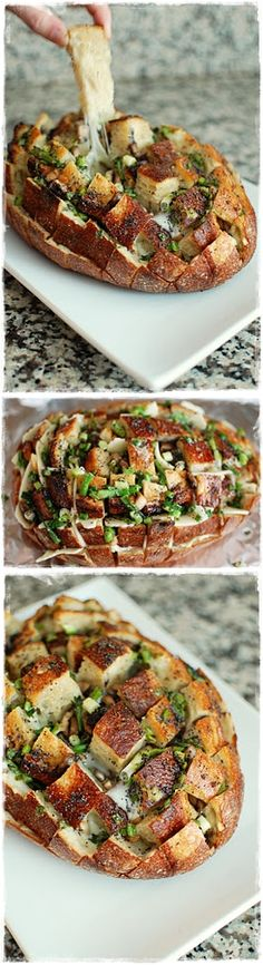 Cheesey Mushroom Pull Apart Bread