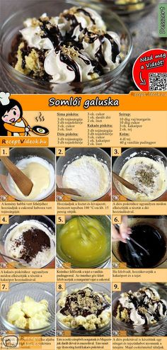 Somloer Nockerl Somloer dumplings are a well-known Hungarian dessert recipe. The Somloer Nockerl Recipe Video is easy to find using the QR code :] No Salt Recipes, My Recipes, Sweet Recipes, Baking Recipes, Dessert Recipes, Hungarian Desserts, Hungarian Recipes, Smoothie Fruit, Winter Food